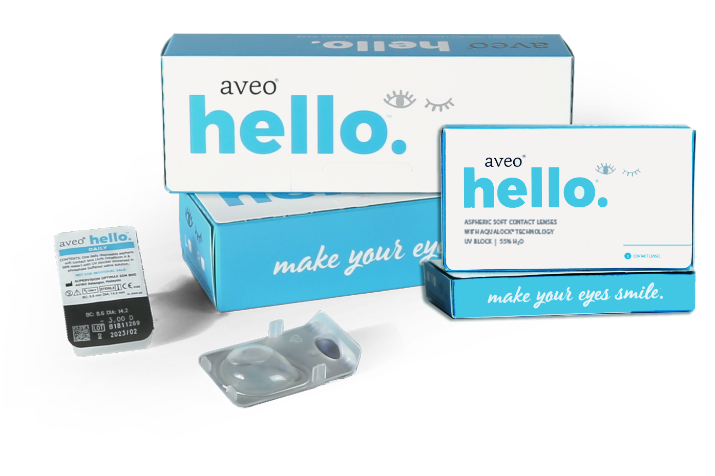 Aveo Hello, contact lenses for nearsightedness and farsightedness — give you an exceptional vision with maximum comfort all day long.